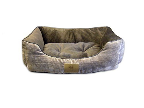 Image of American Kennel Club Mason Cuddler Solid Pet Bed, Brown