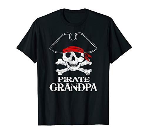 Pirate Grandpa Family Halloween Costume Shirt Group -
