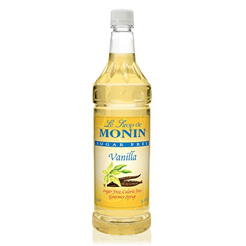 - Monin - Sugar Free Vanilla Syrup, Great For Flavoring Coffee, Shakes, And Cocktails (1 Liter)