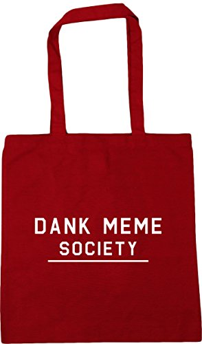 Classic Gym Beach Dank Tote 10 HippoWarehouse meme Bag Red Shopping society litres x38cm 42cm YZ4x1