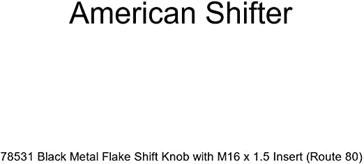 Green Whale Tail American Shifter 197890 Red Retro Metal Flake Shift Knob with M16 x 1.5 Insert