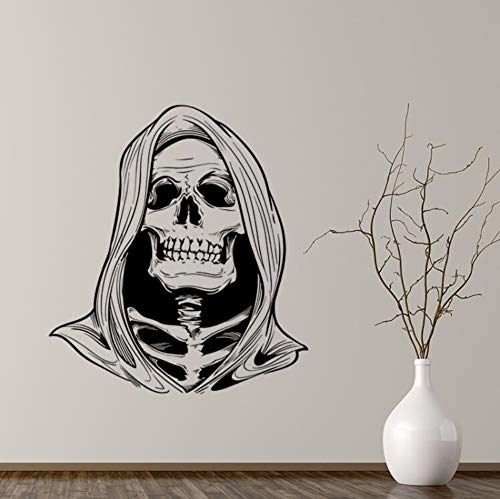 DZXGY Large 3D Skull Death Wall Sticker Skull Household Removable Halloween Decoration Maison Home Decor Ornaments Murals -