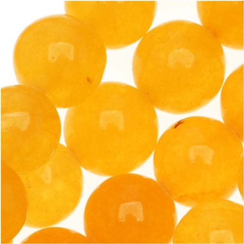 Yellow Honey Jade 8mm Round Beads / 15.5 Inch (Honey Jade Beads)