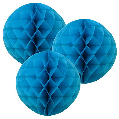 Just Artifacts Tissue Paper Honeycomb Ball (Set of 3, 12inch, Blue) - Click for More Colors & Sizes!