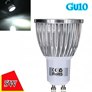 Dimmable GU10 5W 500LM Pure White Light LED Spot Bulb 220V