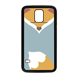 J-LV-F Customized Print Fox Hard Skin Case For Samsung Galaxy S5 I9600