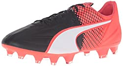 PUMA Men's Evospeed 3.5 Lth FG Soccer Shoe, Puma White/Puma Black, 10.5 M US
