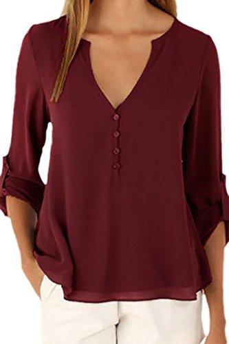 Vian Lundgaard - Camisas - Básico - Opaco - para mujer Rojo