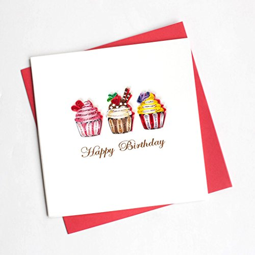 Quilling Card | Birthday Cupcakes