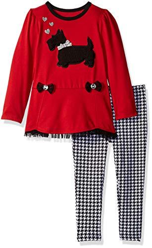 - Kids Headquarters Girls' Toddler 2 Pieces Legging Set-Fashion, red/Print, 4T