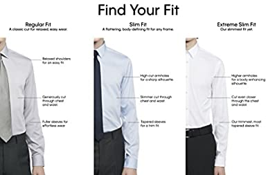 Calvin Klein Men's Thermal Stretch Xtreme Slim Fit Solid Dress Shirt