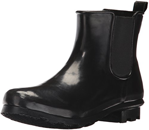 Western Chief Women's Ankle Bootie Rain Boot, Black, 11 M (Black Calf Western Boot)