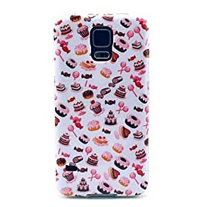 Kelaie Candy and Cake Pattern Hard Case Cover for Samsung Galaxy S5 I9600 +Screen Protector