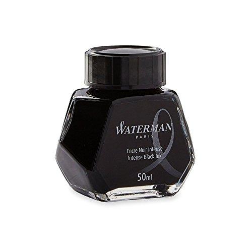 Waterman 50 ml Bottled Liquid Fountain Pen Ink, Intense Black (S0110710) (4-Pack)