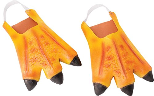 Adult Fancy Party Costume Accessory Animal Big Bird Turkey Chicken Feet One (Big Bird Feet Costume)