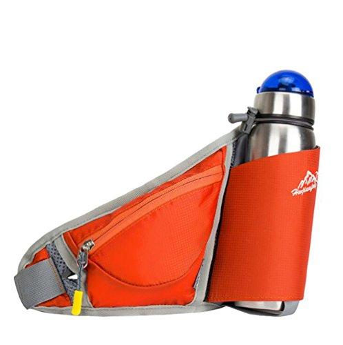 Wmshpeds Ultra-fina ejecución móvil personal fitness fitness stealth satinado bolsa anti-robo de una botella de agua al aire libre exterior pequeños bolsillos B