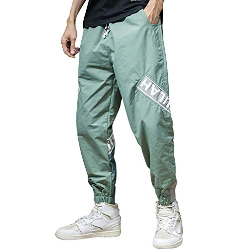 Summer Leisure Overalls for Men, Huazi2 Casual Comfortable Trousers Green
