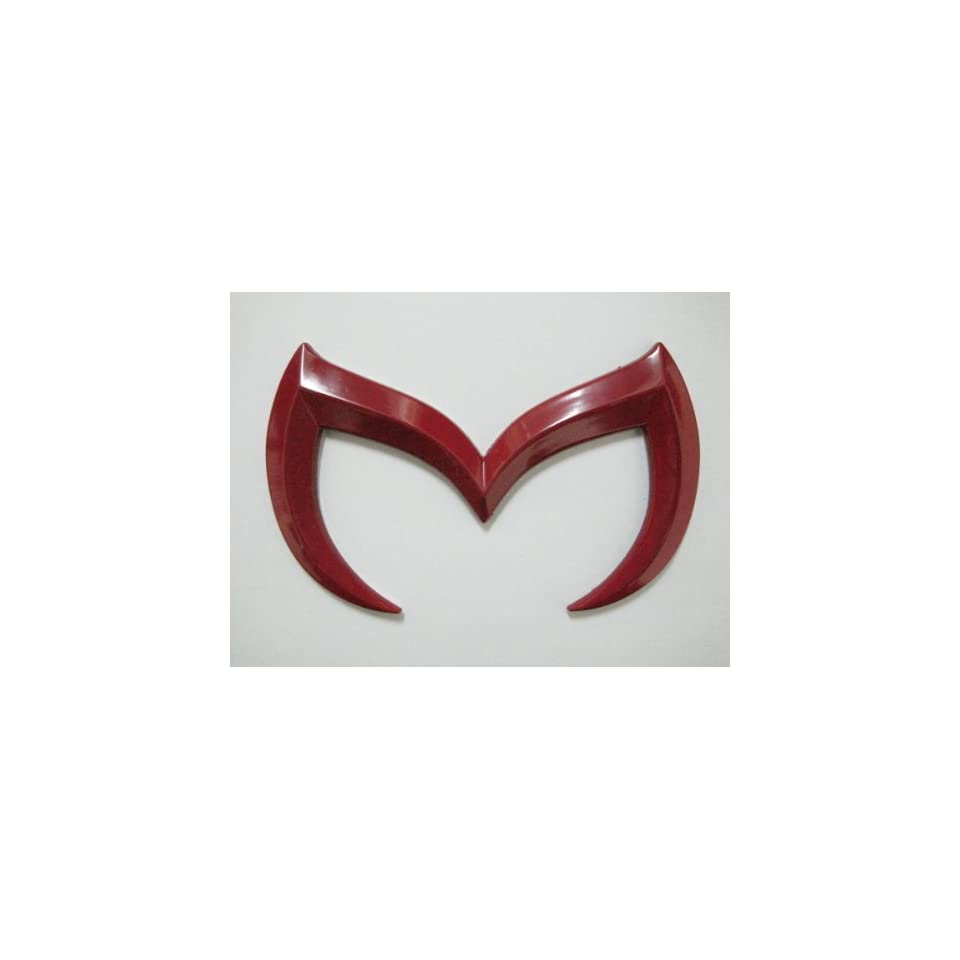Mazda Red Color Auto Car Emblems Accessories By Chrome Emblem 3D Badge 3M Adhesive