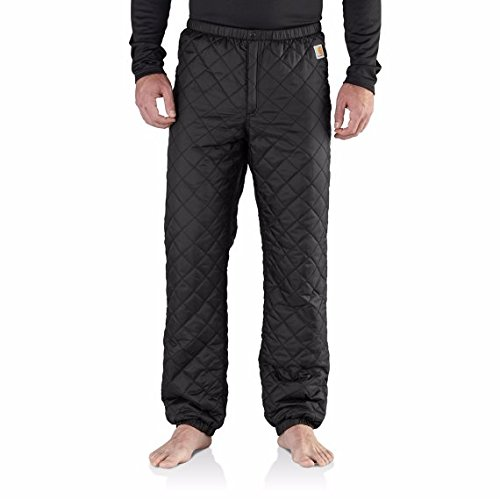 Carhartt Men's Yukon Quilted Base Layer Bottom, Black, Medium