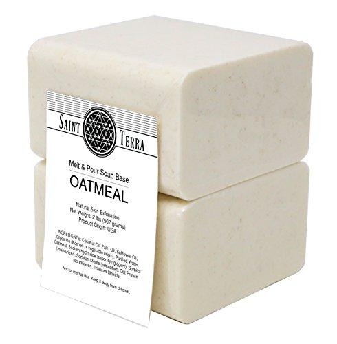 Saint Terra - Oatmeal Melt & Pour Soap Base, 2 Pounds
