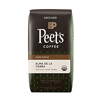 Peet's Coffee Ground Dark Roast Coffee, Organic Alma de la Tierra, 2.25-Pound Bag Lively & Acidic Blend of Latin American Coffees, Smooth Body with Hints of Fruit and Cocoa