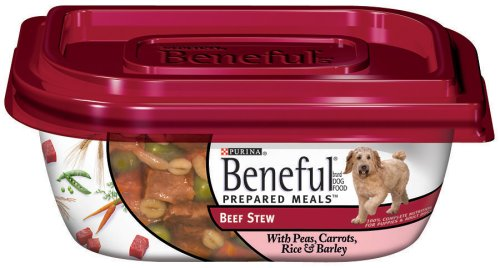Beneful Prepared Meals Beef Stew Dog Food, 10-Ounce Plastic Container (Pack of 16), My Pet Supplies