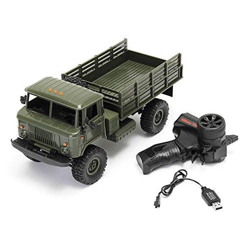 BeesClover WPL WPLB-24 1/16 RTR 4 WD RC Military Truck 2.4GHZ VS WLtoys for Kids Gifts Birthday Present (Best Wltoys For Kids)