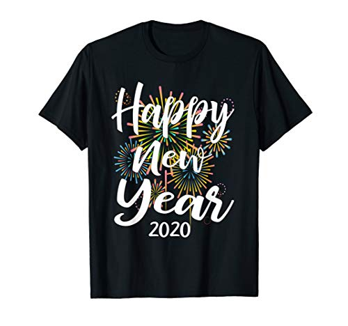 New Year's Eve Gift With Fireworks Happy New Year 2020 T-Shirt