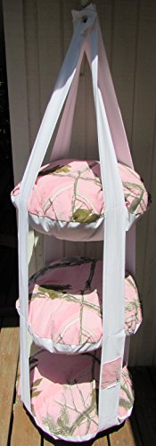 Cat Bed Realtree Pink Camo Hanging Cat Bed, Triple Kitty Cloud Cat Bed, Cat Tree by 7 Cats Heaven