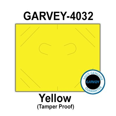 224,000 (2 Cases) GENUINE GARVEY 2016 Yellow General Purpose Labels: Tamper proof security cuts [compatible with Monarch Price Guns]