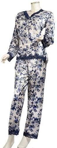 women,s silk pajamas long sleeve