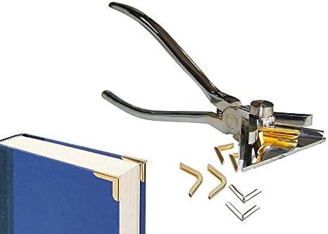 Zange zum Anbringen von Buchecken Metallecken
