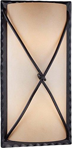 Minka Lavery Outdoor Wall Light 72002-A138-PL Aspen II Exterior Pocket Sconce Lantern, 26w Fluorescent, Bronze