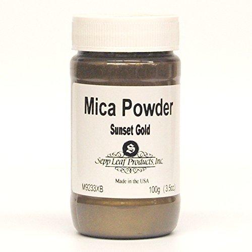 Sepp Leaf Mica Powder Sunset Gold 3.53 Ounce Bottle by Sepp Leaf