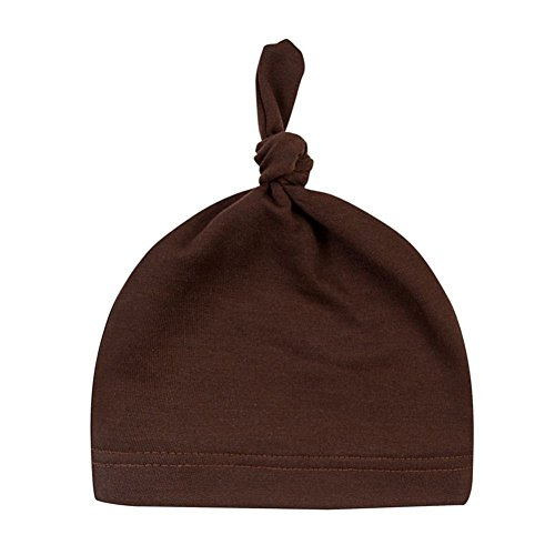 Taiguang Newborn Baby Boys Girls Infant Toddler Soft Cotton Beanie Hat Cap - Brown Cotton Beanie