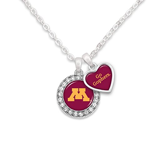 [Minnesota Golden Gophers Logo and a Heart Shaped Charm Necklace Featuring Team Slogan] (Gopher Costumes)