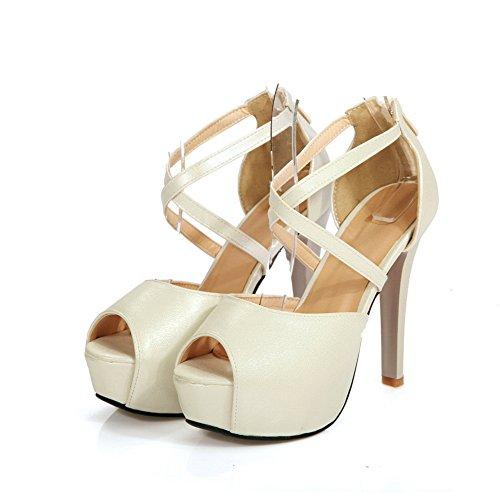 Compensées EU 5 36 Blanc Femme Sandales BalaMasa Blanc 5Wnqg0wx