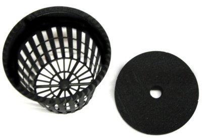 25 2 Inch Net Mesh Pots and Neoprene Inserts Combo