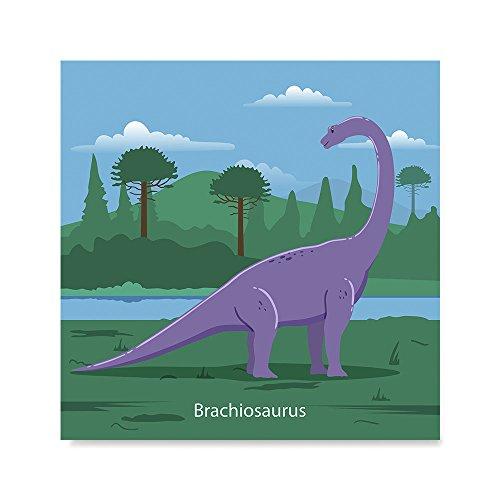 Brachiosaurus Poster - EzPosterPrints - Prehistoric Animals, Dinosaur Series Posters - Poster Printing - Wall Art Print for Home Office Decor - Brachiosaurus - 16X16 inches