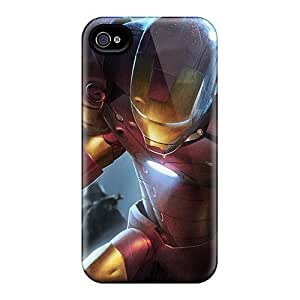 Durable Protector Case Cover With Iron Man Hot Design For Iphone 4/4s