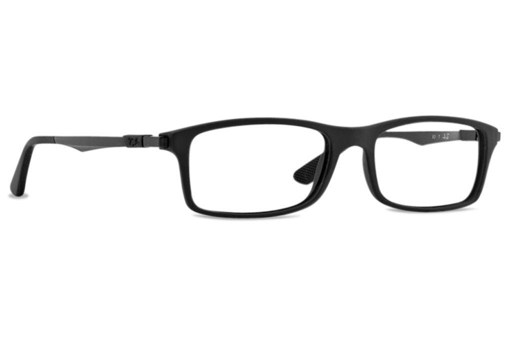 Ray-Ban Glasses 7017 5196 Black 7017 Rectangle Sunglasses by Ray-Ban
