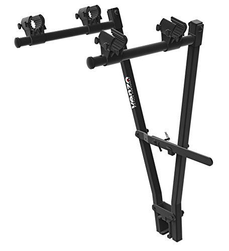 "Venzo 2 Bicycle Bike Rack Tow Bar Hitch 2"" Bar Clamp Mount Car Carrier"