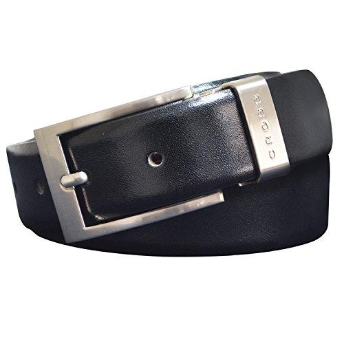 Cross Mens Leather Belt -Black -Free Size