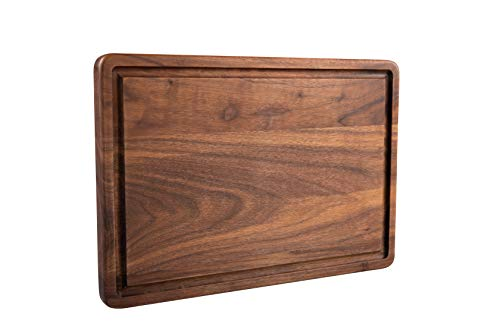 Pandapark Wooden Cutting Board,American Hardwood Chopping and Carving Countertop Block with Juice Drip Groove (13''x9'' Rectangula)