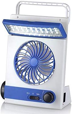 Mini Ventilador Solar Lámpara De Camping Ventilador Recargable Con ...