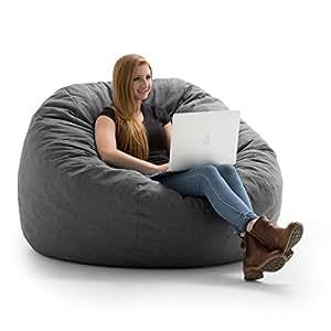 Amazon Com Big Joe 0005477 King Fuf Gray Union Foam
