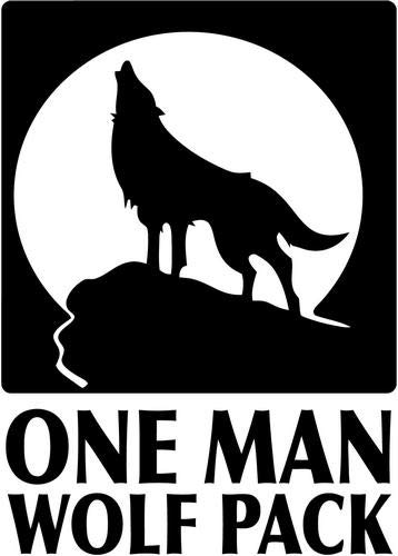 (One Man Wolf Pack Vinyl Die Cut Decal Sticker for Car Truck Motorcycle Windows Bumper Wall Home Office Decor Size- [12 inch/30 cm] Tall and Color- Gloss White)