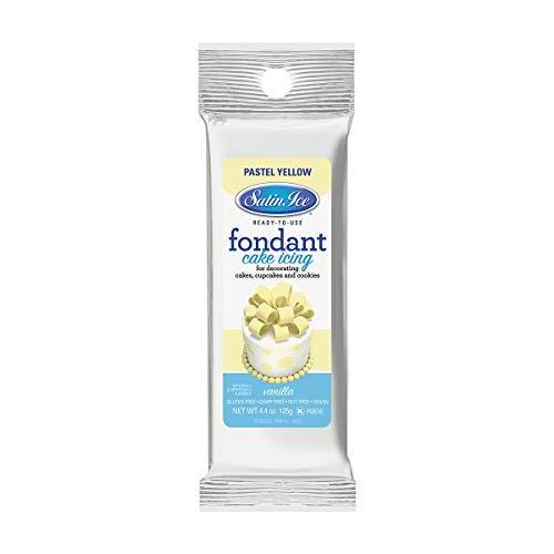 Satin Ice Pastel Yellow Fondant, Vanilla, 4.4 Ounces
