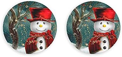 Abrebotellas redondos de muñeco de nieve / Imanes de nevera Sacacorchos de acero inoxidable Etiqueta magnética 2 piezas