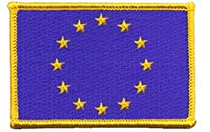 European Union iron-on embroidered patch